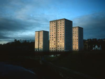 View of Lomond Court, Leven Court, and Clyde Court