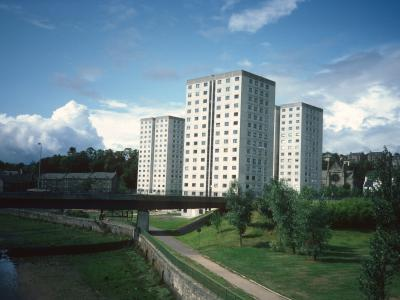 View of West Bridgend blocks