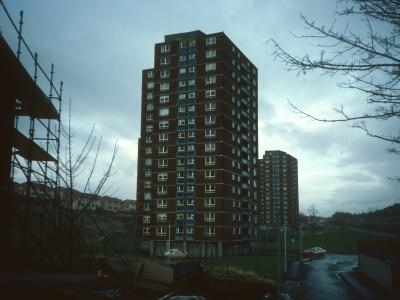 View of 16-storey blocks on Grieve Road
