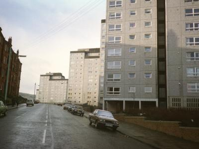 View of 15 and 16-storey blocks on Belville Street