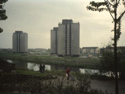 View of 14-storey blocks on Fullarton Street redevelopment