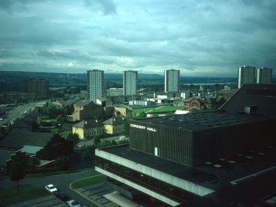 View of 17-storey blocks in Central Motherwell CDA