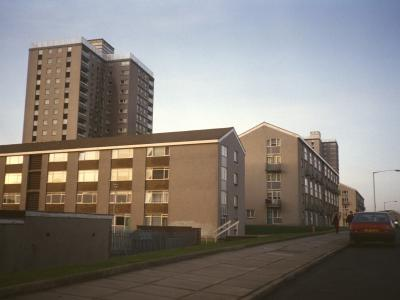 View of 18-storey block on Shields Drive