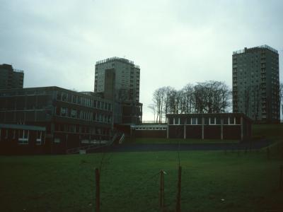 View of 15-storey blocks on Millarston Drive