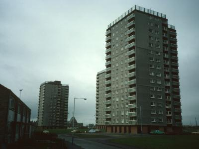 View of Gallowhill Court, Glencairn Court, and Arkleston Court