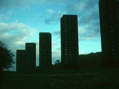 View of 20-storey blocks on Mitchellhill Estate