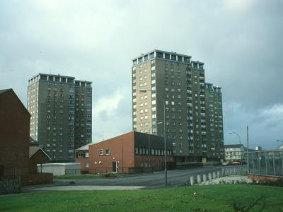 View of 15-storey blocks on Baltic Street and Ruby Street