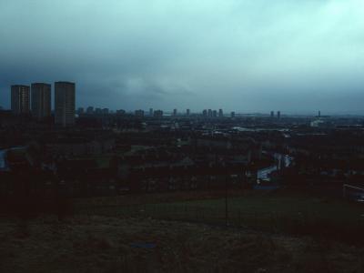 View of Linkwood Crescent blocks from Drumchapel