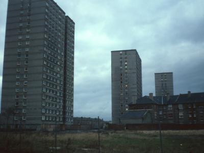 View of three 20-storey blocks o Iona Street