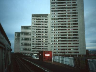 View of Kennishead Avenue blocks from Kennishead station