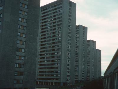 View of Kennishead Avenue blocks