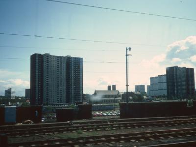 View of 24-storey blocks in Laurieston