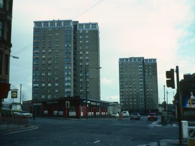 View of 15-storey Helenvale Street blocks from London Road