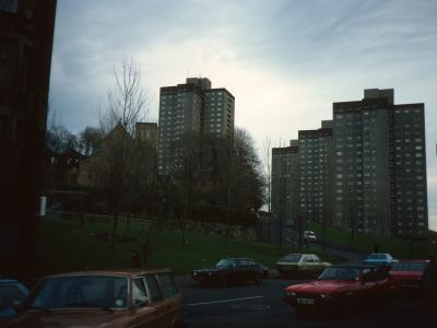 View of blocks on Birness Drive and Shawhill Road