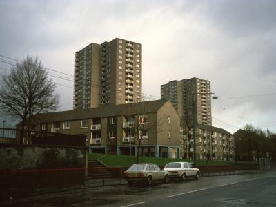 View of 20-storey blocks on Charles Street