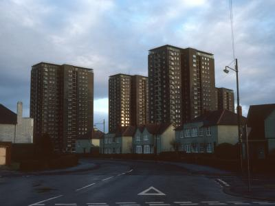 View of 20-storey blocks on Kingsway Court
