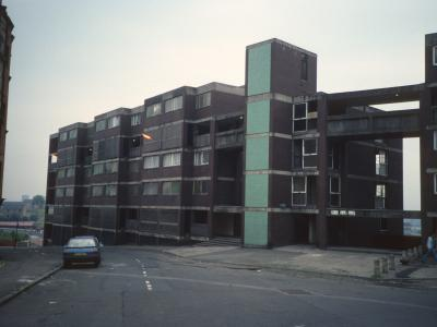 View of 6-storey blocks in Springburn development