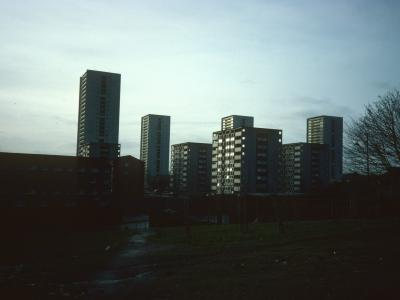 View of 26-storey and 8-storey blocks on Wyndford Road