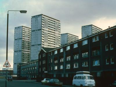 View of 24-storey blocks on Area 'D' development
