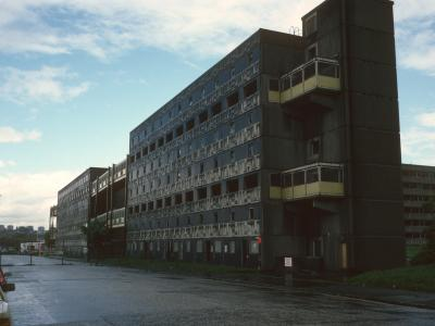 View of condemned 7-storey block