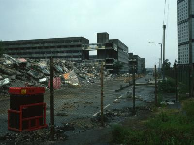 View of 7-storey blocks undergoing demolition with 170 Sandiefield Road and 200 Sandiefield Road in background