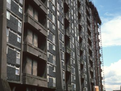 View of 20-storey Queen Elizabeth Square block