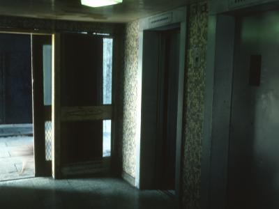 Lift lobby in 20-storey block on Queen Elizabeth Square