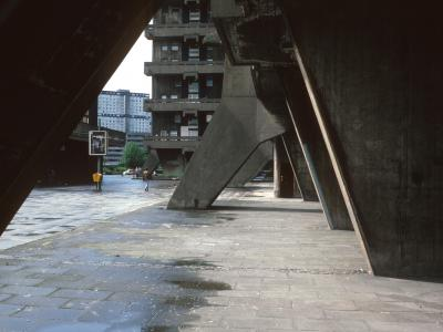 Detail view of 20-storey block on Queen Elizabeth Square