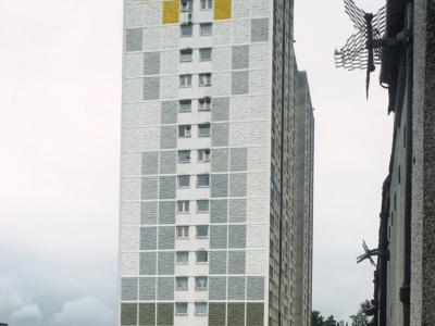 View of 20-storey block in Sighthill