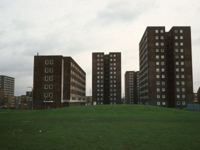 View of blocks on Gascoigne Estate