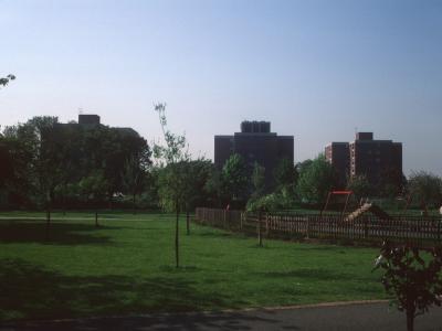 View of 8-storey blocks on Sherwood Close