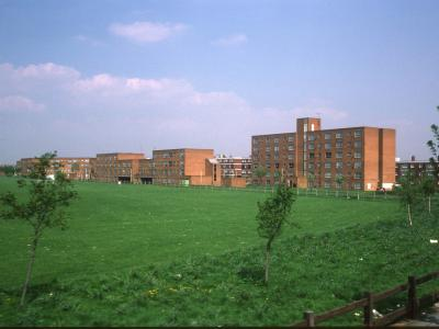 View of Rectory Park with Block 1 on right of image