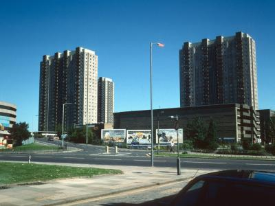 View of Edmonton Green Shopping Centre blocks