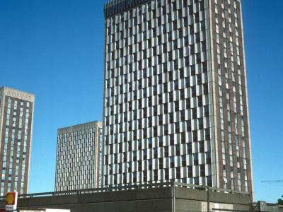 View of 23-storey blocks at Barbot Street redevelopment