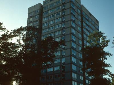 View of 15-storey block