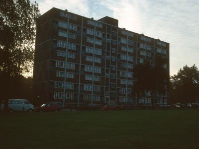 View of front of block