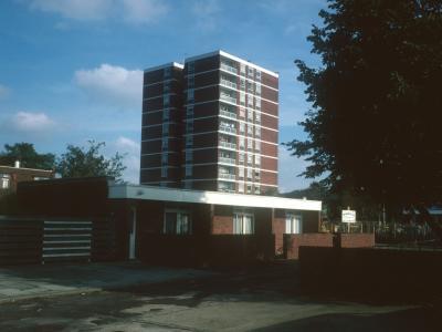 View of one 11-storey block