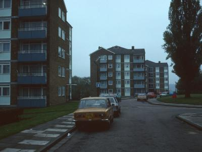 View of blocks from Gilbourne Road