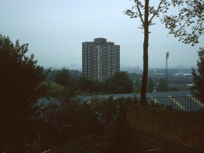 View of Valiant House with Charlton Athletic Football Club visible in background