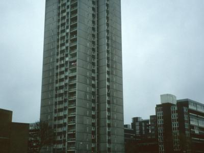 View of Nightingale Heights (25-storey block) with 6-storey block to right