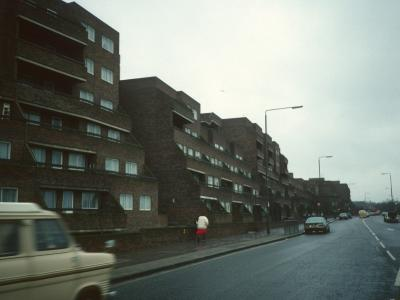 View of 6-storey blocks from Woolwich Common