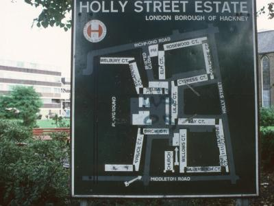 Map of Western Park of Holly Street Estate