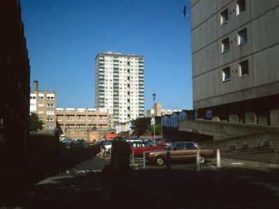 View of 20-storey and 6-storey blocks on King's Crescent Estate