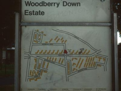 Map of Woodberry Down Estate