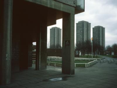 View of 21-storey blocks on Trowbridge Estate