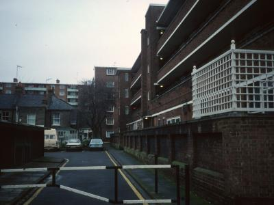 View of Calcott Court and Thackeray Court in background