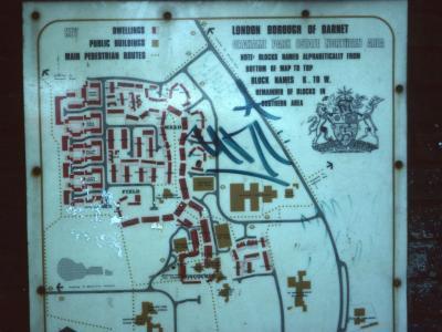 Map of Grahame Park Estate