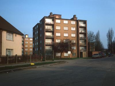 View of 6-storey blocks on Clayponds Gardens