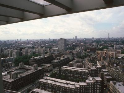 General view of Finsbury area from Peregrine House