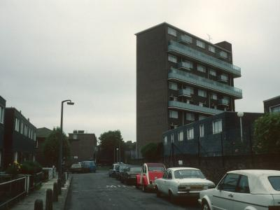 View of John Kennedy Court from Mildmay Street